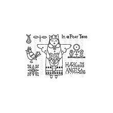 Pomôcky/Nástroje - Silikónové razítka In a Pear Tree A6 - 8966814_