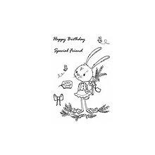 Pomôcky/Nástroje - Silikónové razítka Special Friend Bunny - 8966819_
