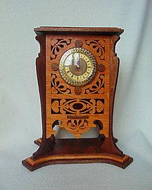 Hodiny - Drevené hodiny Čaj sa podáva o piatej - 8965598_