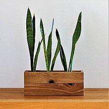 Nádoby - Dubový kvetináč / hrantík na kvety 40 cm - 8965554_