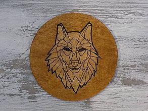 Pomôcky - Podložka pod pohár - Wolf - 8966108_