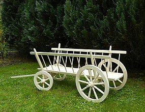 Dekorácie - Dreveny voz rebrinak 200cm - 8966210_