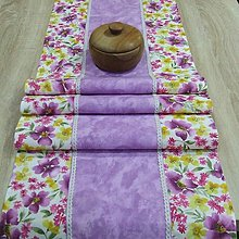 Úžitkový textil - Fialové poľné kvety - stredový obrus(1) - 8967048_
