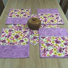 Úžitkový textil - Fialové poľné kvety - prestieranie 28x38 - 8967065_