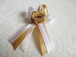 Pierka - svadobné pierka zlaté - 8967045_