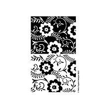 Pomôcky/Nástroje - Silikónové razítka Two Tone Flower Background - 8968313_