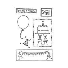Pomôcky/Nástroje - Silikónové razítka Little People Make a Wish - 8968327_