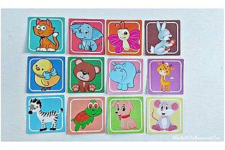 """Hračky - Pexeso """"Zvieratká"""" pre najmenších - 8967833_"""