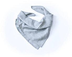 Detské oblečenie - Ľanová šatka sivá - 8969017_