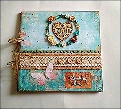 Papiernictvo - Fotoalbum svadobný 30x30 cm - 8969528_