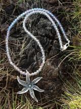 Náhrdelníky - Aurakrištáľ - náhrdelník so strieborným autorským šperkom - 8968906_
