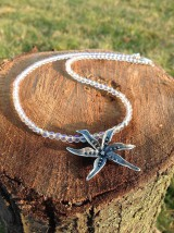 Náhrdelníky - Aurakrištáľ - náhrdelník so strieborným autorským šperkom - 8968919_
