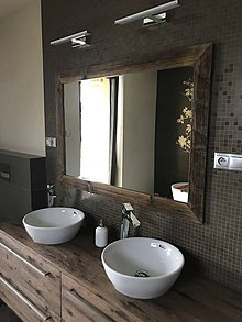 Zrkadlá - Zrkadlo so starého dreva - 8969125_