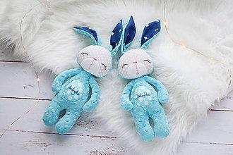 Hračky - Zajačik svetlo tyrkysový - 8967546_