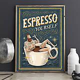 Grafika - Art-Print Espresso Yourself A4 - 8968750_
