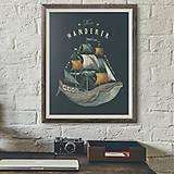 Grafika - Art-Print The Wanderer A3 - 8968802_