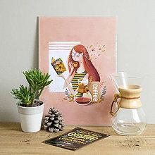 Grafika - Art-Print Coffee Time A3 - 8968815_