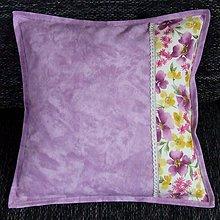 Úžitkový textil - Fialové poľné kvety - vankúš (3) 40x40 - 8968572_
