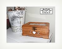 Spomienková krabica so sklenenym vrchom na fotky :)