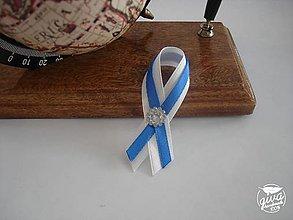 Pierka - Svadobné pierko malé - biela & kráľovská modrá - 8967707_