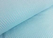 Textil - úplet -prúžok tyrkysový - 8967789_