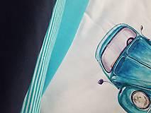 Textil - úplet -prúžok tyrkysový - 8967795_