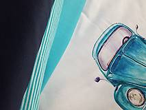 Textil - teplákovina tyrkysová - 8967820_