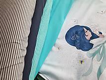 Textil - teplákovina tyrkysová - 8967821_