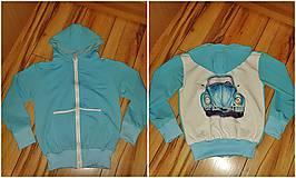 Textil - úplet -prúžok tyrkysový - 8967908_