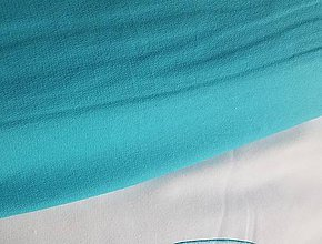 Textil - teplákovina tyrkysová - 8967819_
