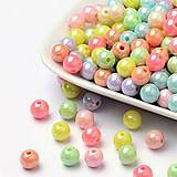 - Korálky 8 mm, 20ks - farebný mix s AB odleskom - 8968708_