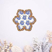 Dekorácie - Digitálna poleva na zdobenie medovníkov stracciatella - rukavica vločka - 8968212_