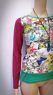 Tričká - Dámske tričko-motýle - 8970270_