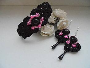 Sady šperkov - Soutache set Audrey (Čierna) - 8970288_