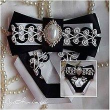 Odznaky/Brošne - brošňa ,, ribbon brooch ,, - 8970595_