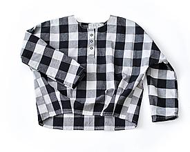 Detské oblečenie - Tunika HUGO čierno-biela - 8971393_
