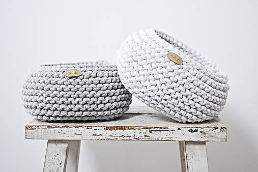 Pletený košík - svetlosivý   Silur - SAShE.sk - Handmade Košíky 0e4c71746b
