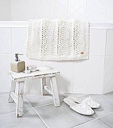 Úžitkový textil - Pletený koberček Natur II - 8971663_