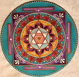 Dekorácie - Saraswati Yantra/ Mandala pre vedomosti, kreativitu a umenie - 8971392_