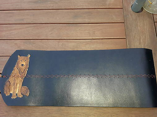 Kožený profesionálny obal na kresliace a písacie potreby /vlk/