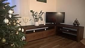 """Nábytok - TV stolík so starého duba """" rohový"""" - 8972508_"""