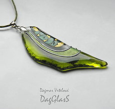Náhrdelníky - sklenený šperk - maľovaný - 8970971_