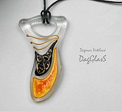 Náhrdelníky - sklenený šperk - maľovaný - 8971019_