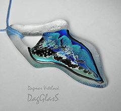 Náhrdelníky - sklenený šperk - maľovaný - 8971038_