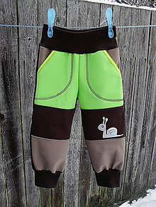 Detské oblečenie - Softshellové kalhoty - 8971860_