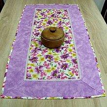 Úžitkový textil - Fialové poľné kvety - obrus obdĺžnik 97x47 - 8972211_