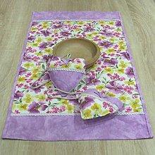 Úžitkový textil - Fialové poľné kvety - obrus obdĺžnik 69x40 - 8972431_