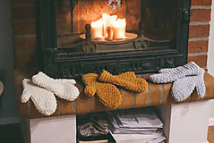 Rukavice - Teplučké rukavice - 8971504_