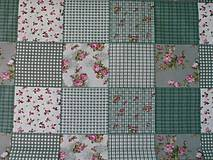 - Starý patchwork zelený - 8972276_