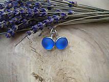 - náušnice modré s mrazivým efektom-matné - 8972043_